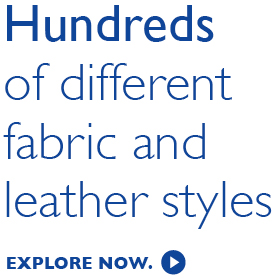 Over 700 fabric and leather