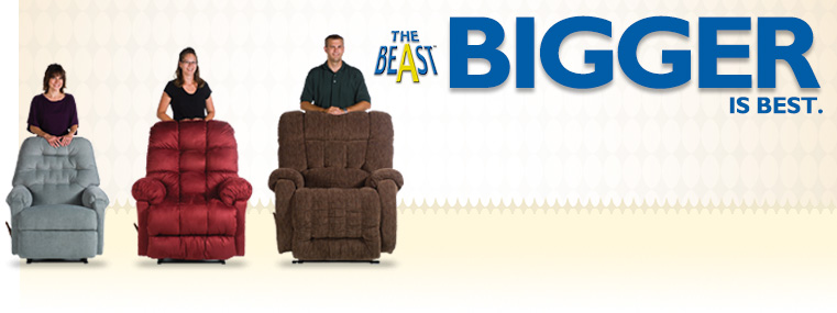 The Beast Takes Oversized Recliners To New Lengths. The Extra Large,  Heavily Reinforced Frame, Reclines To Comfortably Support Individuals Who  Stretch To A ...