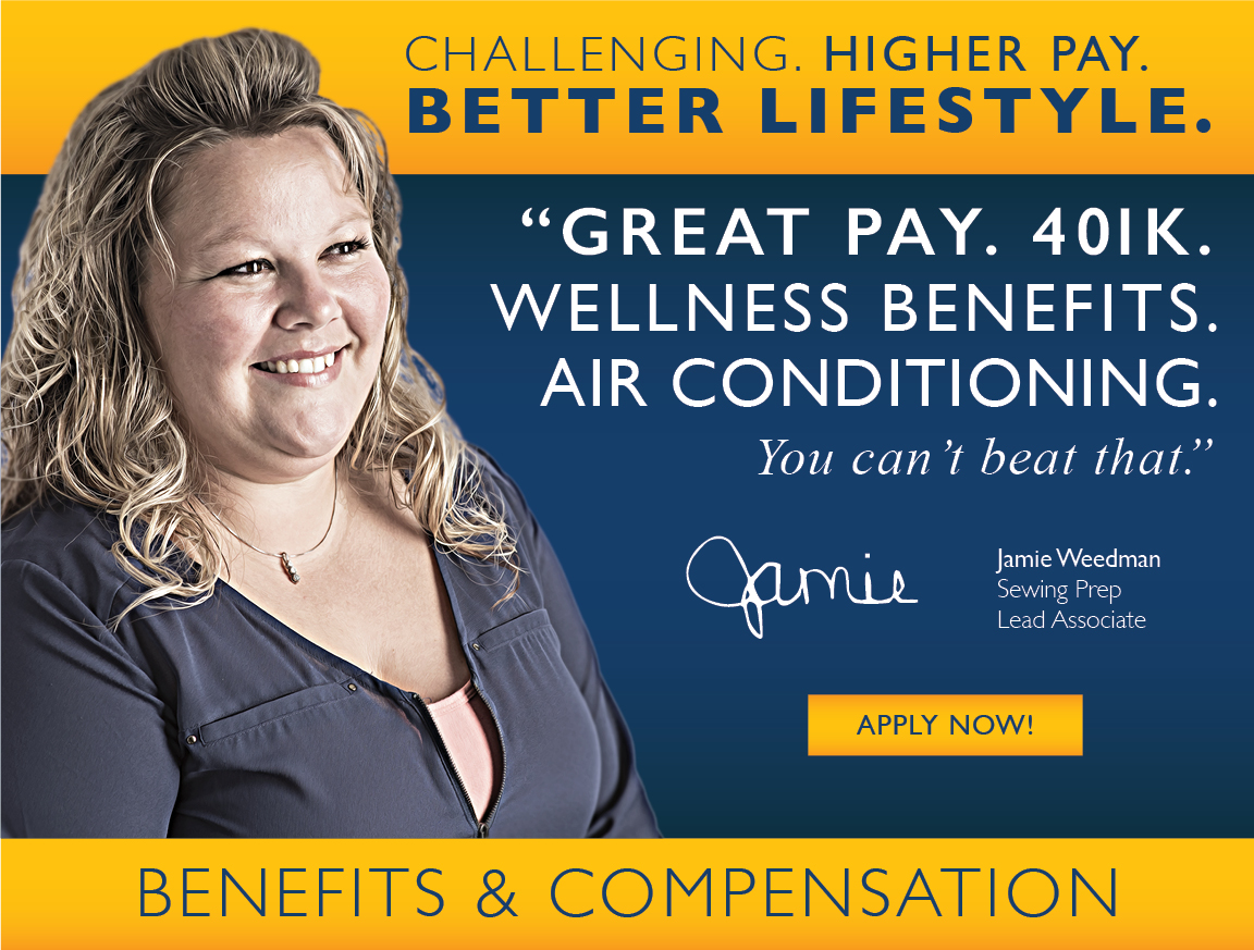 Great Pay. 401K. Wellness Benefits.