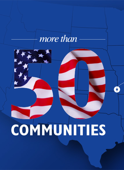 More than 50 communities