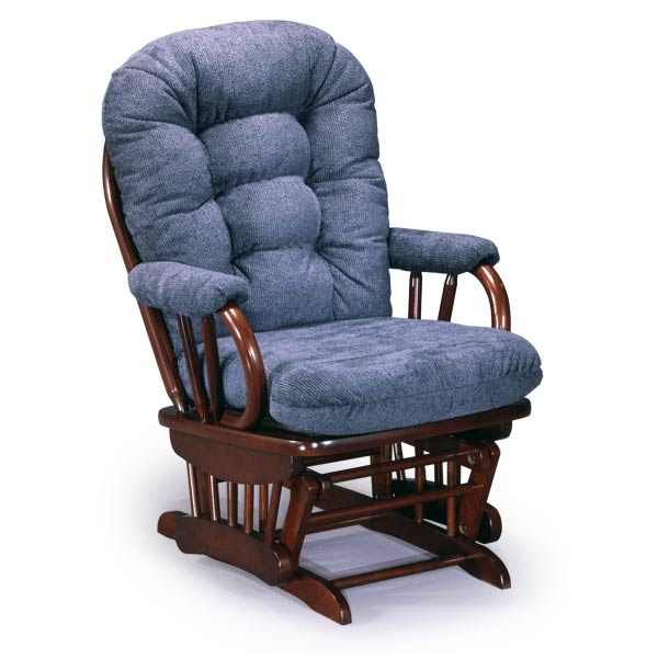 Leather Glider Rocker With Ottoman